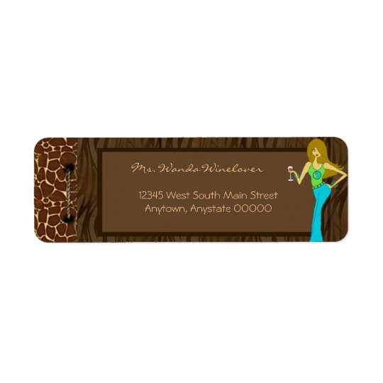 Wild Side Wine Diva Address Labels