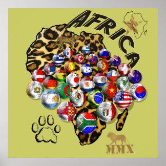 Wild Soccer Celebration Safari style futbol gifts Posters