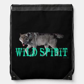 """""""Wild Spirit"""" Black Backpack"""