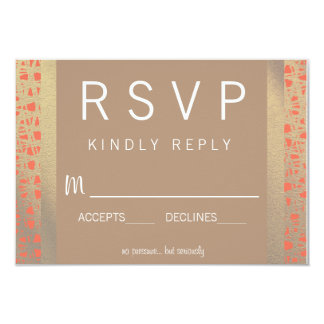Wild Spirit Wedding RSVP 9 Cm X 13 Cm Invitation Card