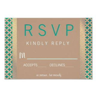 Wild Spirit Wedding RSVP 9 Cm X 13 Cm Invitation Card