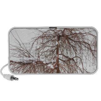 Wild Springtime Winter Tree Portable Speakers