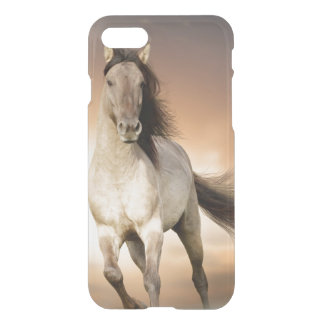 Wild Stallion Running In Sunset iPhone 8/7 Case