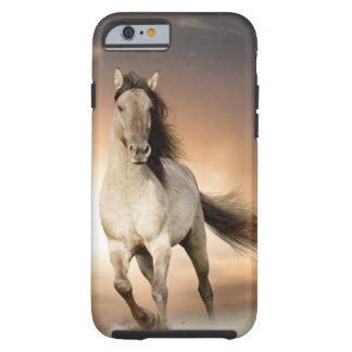 Wild Stallion Running In Sunset Tough iPhone 6 Case