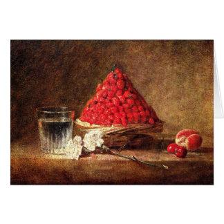 Wild Strawberries by Jean Simeon Chardin Greeting Card