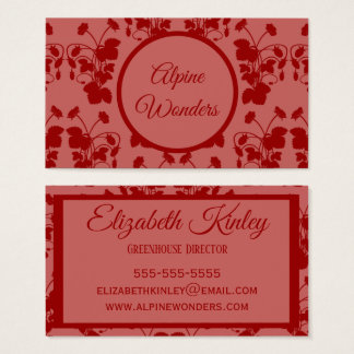 Wild Strawberries Pattern Business Card