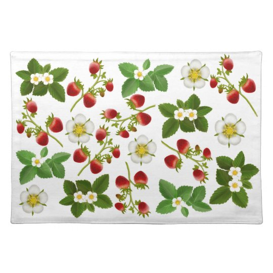 Wild Strawberries Placemat