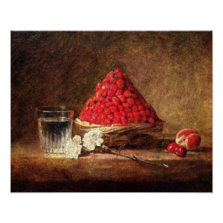 Wild Strawberries - Vintage Strawberry Painting Poster