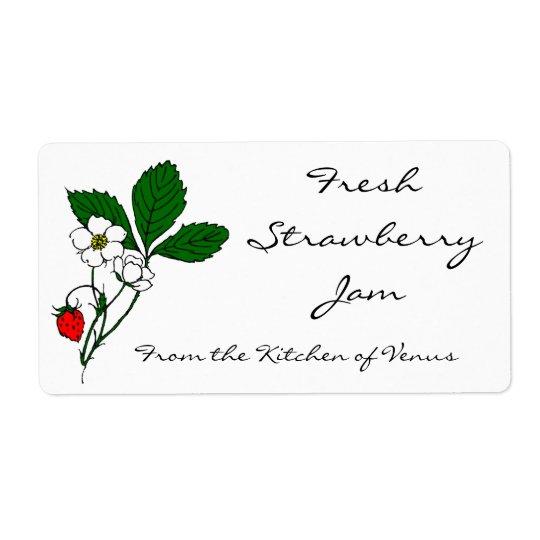 Wild Strawberry Custom Canning Labels