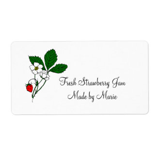 Wild Strawberry Custom Shipping Label
