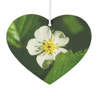 Wild Strawberry Flower Car Air Freshener