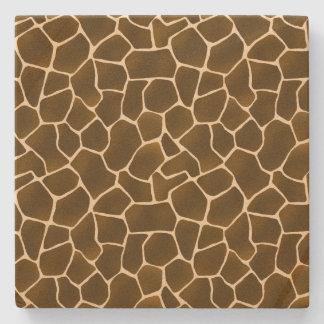 Wild Style Giraffe Spots Safari Animal Print Stone Coaster