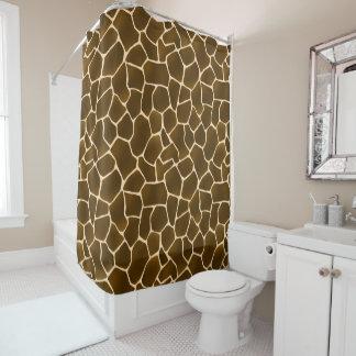 Wild Style Safari Giraffe Print All-Over Pattern Shower Curtain