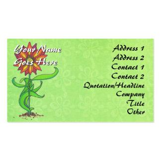 Wild Stylized Flower Business Card