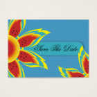 Wild Sun Affordable Save The Date Cards