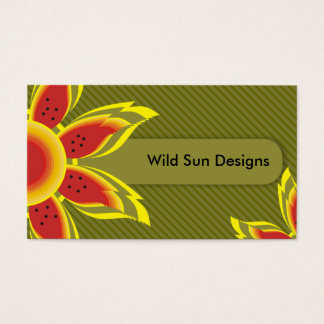 Wild Sun Designs Business Cards. Business Card