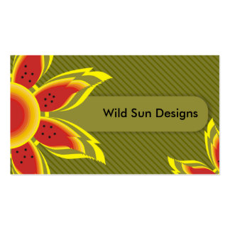 Wild Sun Designs Business Cards. Pack Of Standard Business Cards