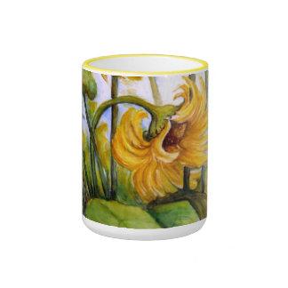 Wild Sunflower Ringer Mug