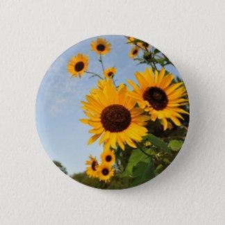 Wild Sunflowers 6 Cm Round Badge