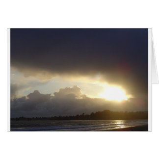 Wild Sunset, Aptos, Santa Cruz county,California Card