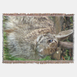Wild Sweet Bunny Throw Blanket