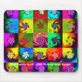 """WILD SWIRLY QUILT"", Mousepad"