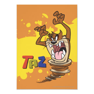 "Wild TAZ™ 5"" X 7"" Invitation Card"