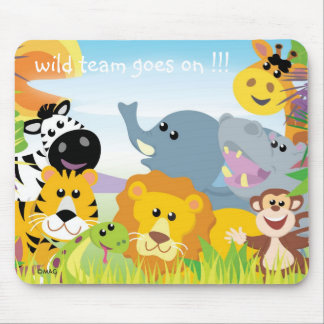 wild team goes on !!! mouse pad