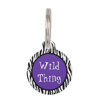 Wild Thing 2 Sided Pet ID Pet Name Tag