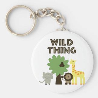 Wild Thing Basic Round Button Key Ring