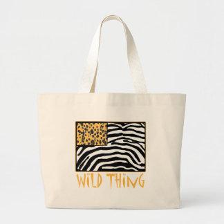 Wild Thing! Cool Animal Print design Large Tote Bag