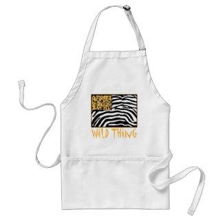 Wild Thing! Cool Animal Print design Standard Apron