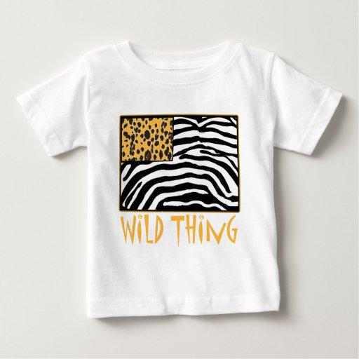 Wild Thing Cool Animal Print Design T Shirts Zazzle