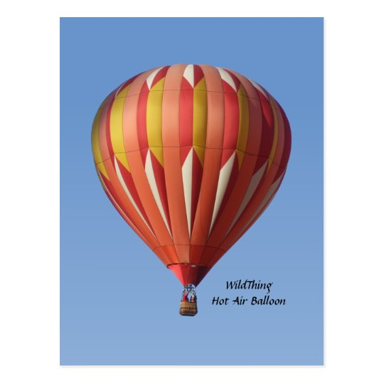 Wild Thing Hot Air Balloon Postcard