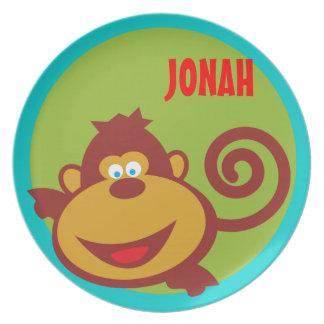 Wild Thing Monkey Kids Safari Custom Plate