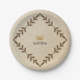 Wild Thing Vine Paper Plate