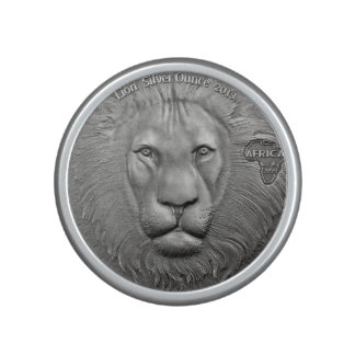 WILD THINGS: African Lion Coin-Bumpster Speaker