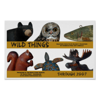 Wild Things exhibition poster