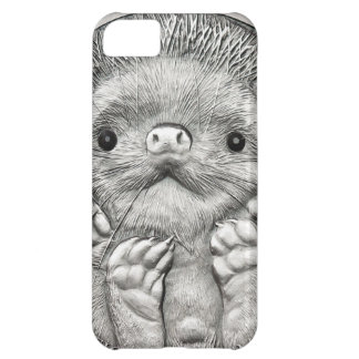 WILD THINGS: Little Silver Hedgehog iPhone 5C Case