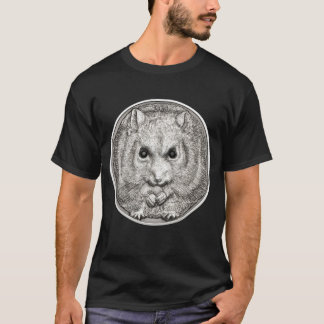 WILD THINGS: Silver Hamster - Black T-Shirt