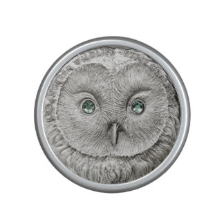WILD THINGS: Silver Ural Owl Coin-Bumpster Speaker
