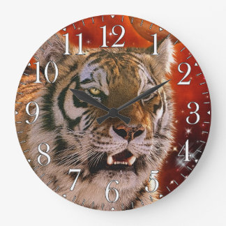 Wild Tiger Big Cat Art Animal-lover Wall Clock