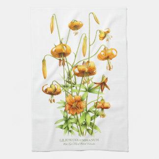 Wild Tiger Lilies Tea Towel