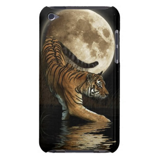 Wild Tiger & Moon Big Cat Wildlife Ipod Case Case-Mate iPod Touch Case