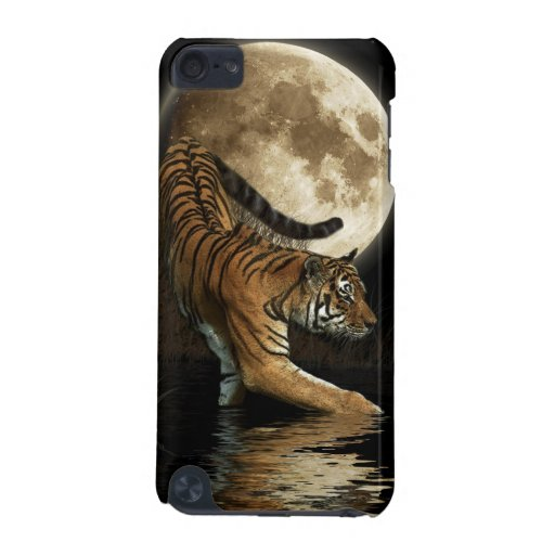 Wild Tiger & Moon Big Cat Wildlife Ipod Case iPod Touch (5th Generation) Cases