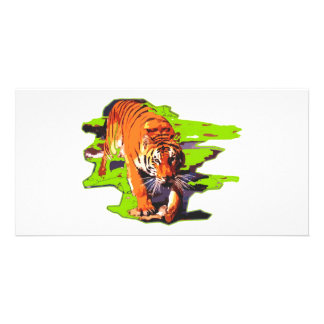 Wild Tiger Personalized Photo Card