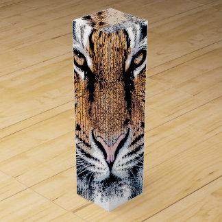 Wild Tiger Portrait Graphic Press Style Wine Gift Box