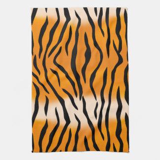 Wild Tiger Stripes Pattern Hand Towel