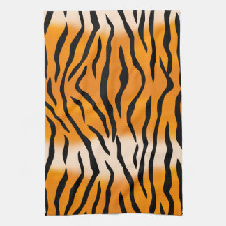 Wild Tiger Stripes Pattern Tea Towel