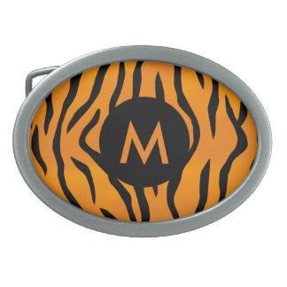 Wild Tiger Stripes with Monogram Oval Belt Buckles